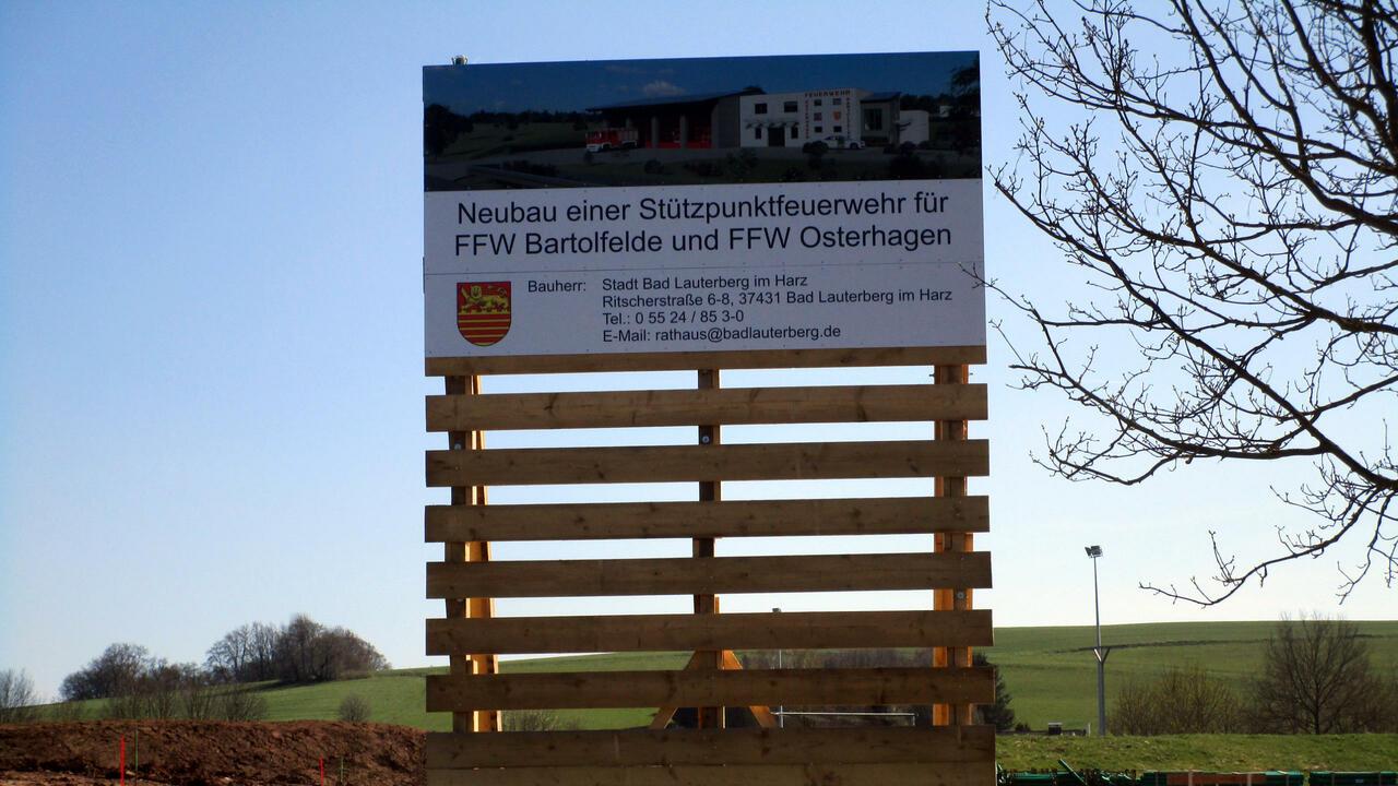 Neubau eines Feuerwehrhauses für Bartolfelde und Osterhagen
