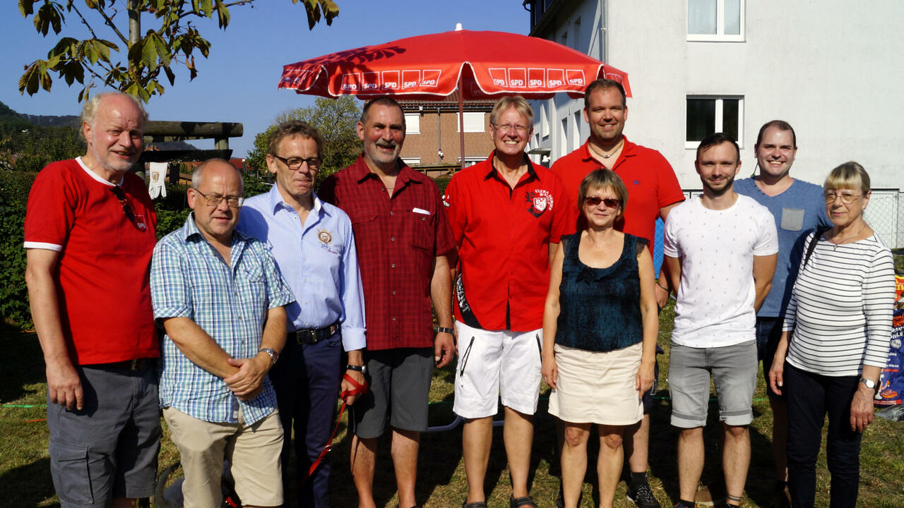 Gratulationen zu 150 Jahre SPD Bad Lauterberg auf dem Dammwiesenfest 2019
