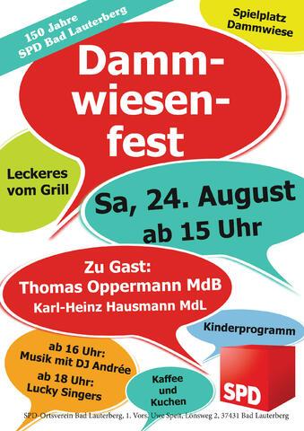 Dammwiesenfest Plakat 2019