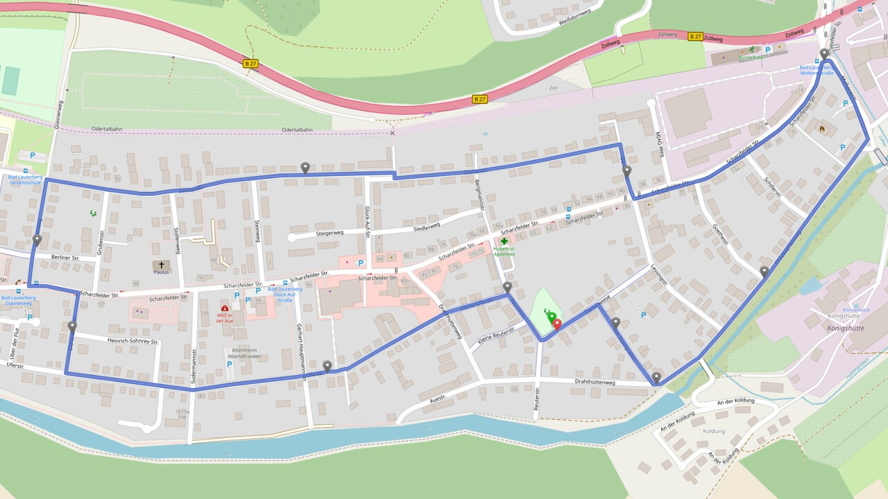 Route der Straßen- und Gartenzaungespräche in der Aue